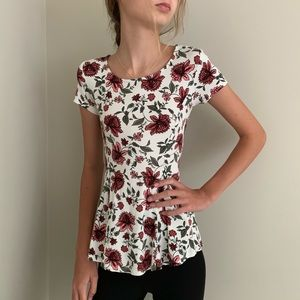 MyMichelle Girls Floral Tie-back T-Shirt, S (8)
